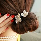 head bands ga - Pyrsun(TM) 1pc Summer Style Shell Hair Band women Hair Accessories dress headwear metal crown Girls Rhinestone flower headband