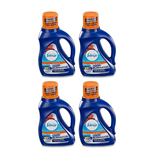 Febreze In-Wash Laundry Odor Eliminator, Fresh Scent, 50 Fluid Ounce (4 ()