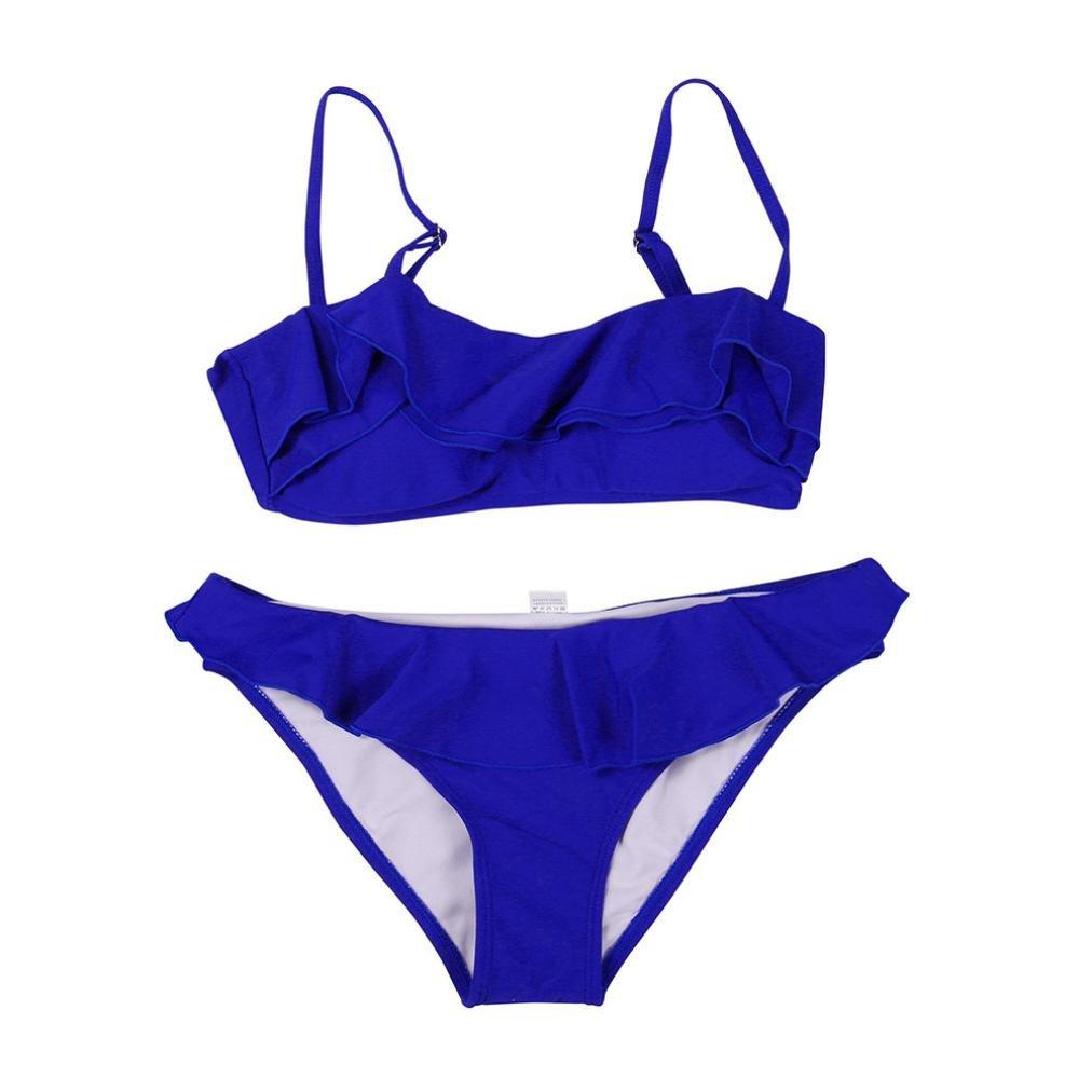 BH Badeanzug Bad Bademode Strand Frauen Bandage Bikini Set Push-up gepolsterte