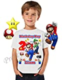Mario Birthday Shirt, ADD any name & any age, Birthday Boy Shirt, Mario Birthday Shirt, FAMILY Matching Shirts, Super Mario Shirt, Mario & Luigi, Birthday Shirt Super Mario, VISIT OUR SHOP!!