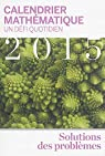 Calendrier mathématique 2015 : Un défi quotidien par Stewart