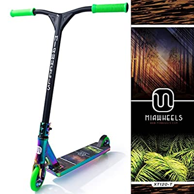 MIAWHEELS XT-120 Stunt Scooter- NEO-Chrome- 120MM Wheels- 530MM Extra Large Deck+ 580MM HIGH Front BAR from MIAWHEELS