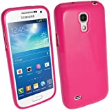 samsung galaxy 4 mini pink - iGadgitz Pink Glossy Durable Crystal Gel Skin (TPU) Case Cover for Samsung Galaxy S4 IV Mini I9190 I9195 Android Smartphone Cell Phone + Screen Protector