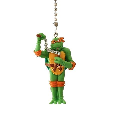 Teenage Mutant Ninja Turtles Figure Ceiling FAN PULL light chain (MICHELANGELO - orange yellow mask)