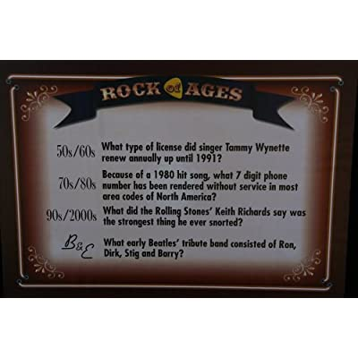 Rock of Ages Music Trivia Board Game: Toys & Games