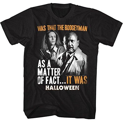American Classics Halloween Scary Horror Slasher Movie It was Black Adult T-Shirt Tee -