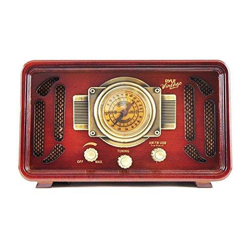 PUNP34BT Vintage Retro Bluetooth AM//FM Radio Sound System USB//SD Readers