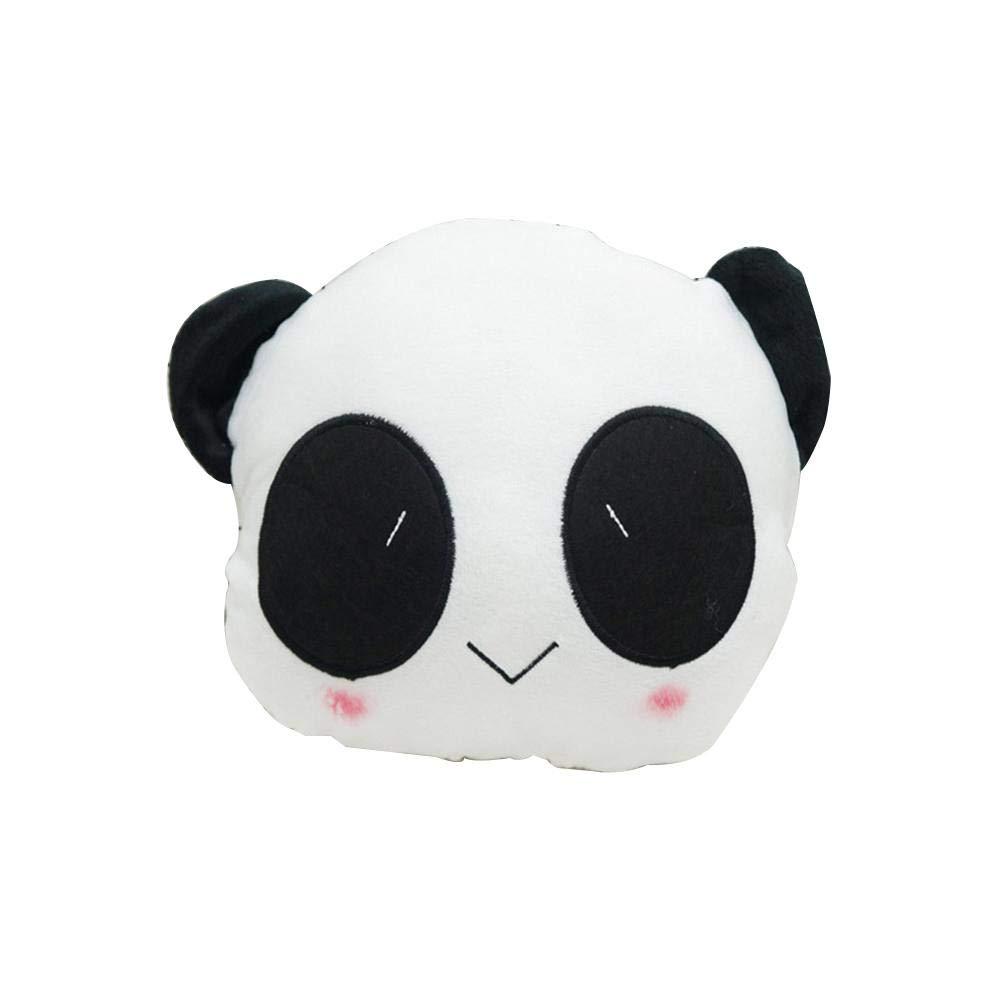 Luckybaby Reposacabezas del Coche de Dibujos Animados Asiento del Coche cojín para la Cabeza Lindo Panda Smiley Almohada Cuello del Coche Reposacabezas Lindo