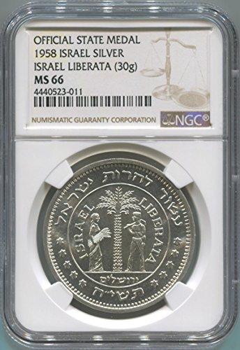 Israel Bronze Medal (1958 IL Israel Medal MS66 NGC)