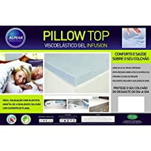 Pillow Top Viscoelástico Nasa Gel Infusion 8cm de espessura (Queen 1,58 X 1,98 X 0,08 m)