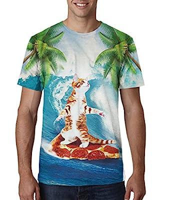 RAISEVERN Unisex 3d Printed Casual Summer Short Sleeve T-shirts Tees