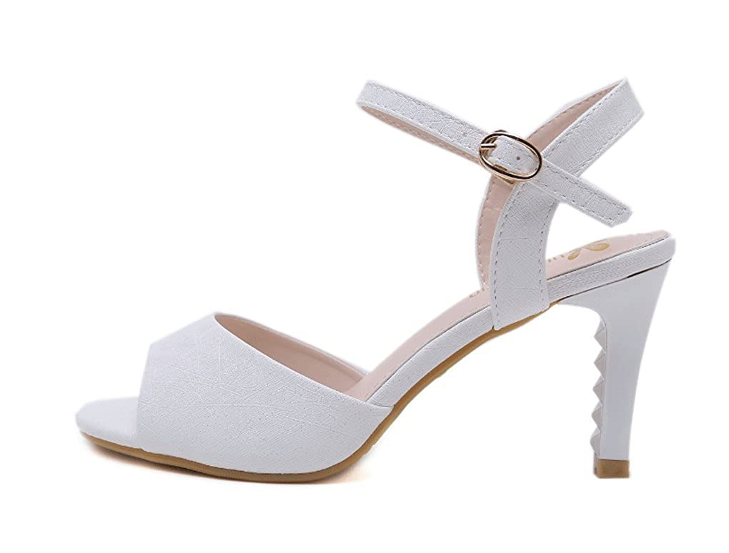 JAZS® Sandalias, Sandalias de Mujer de Moda Moda Moda Sandalias Cómodas Sandalias de Punta Abierta de Tacón Delgado Sexy Fashion Sweet Elegante de Moda 65f0b1