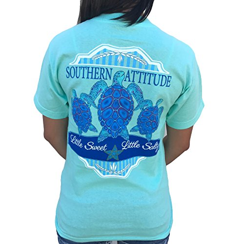 (Southern Attitude 3 Turtles Sea Foam Green Preppy Short Sleeve Shirt (2X-Large))