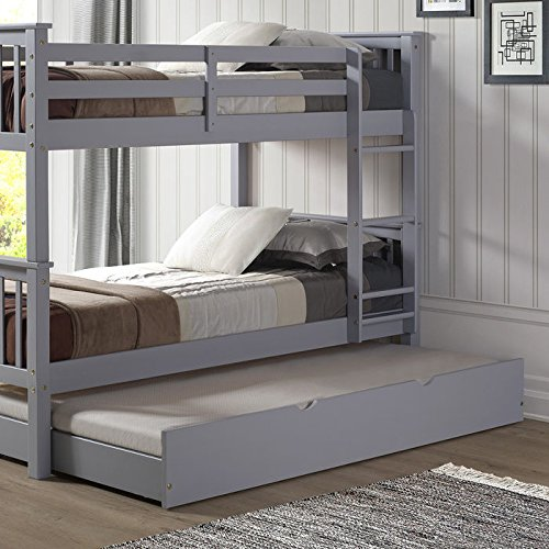WE Furniture Solid Wood Trundle Bed