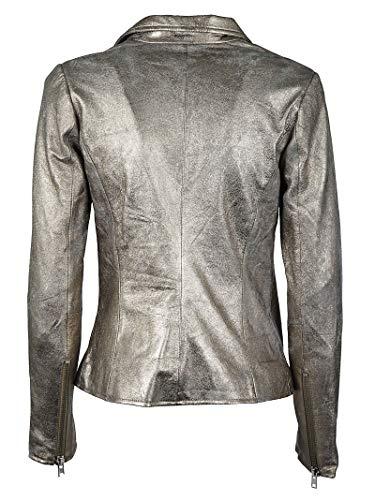 Pelle Outerwear Argento 8073deepmetallic Donna Giacca Sword xUqfII