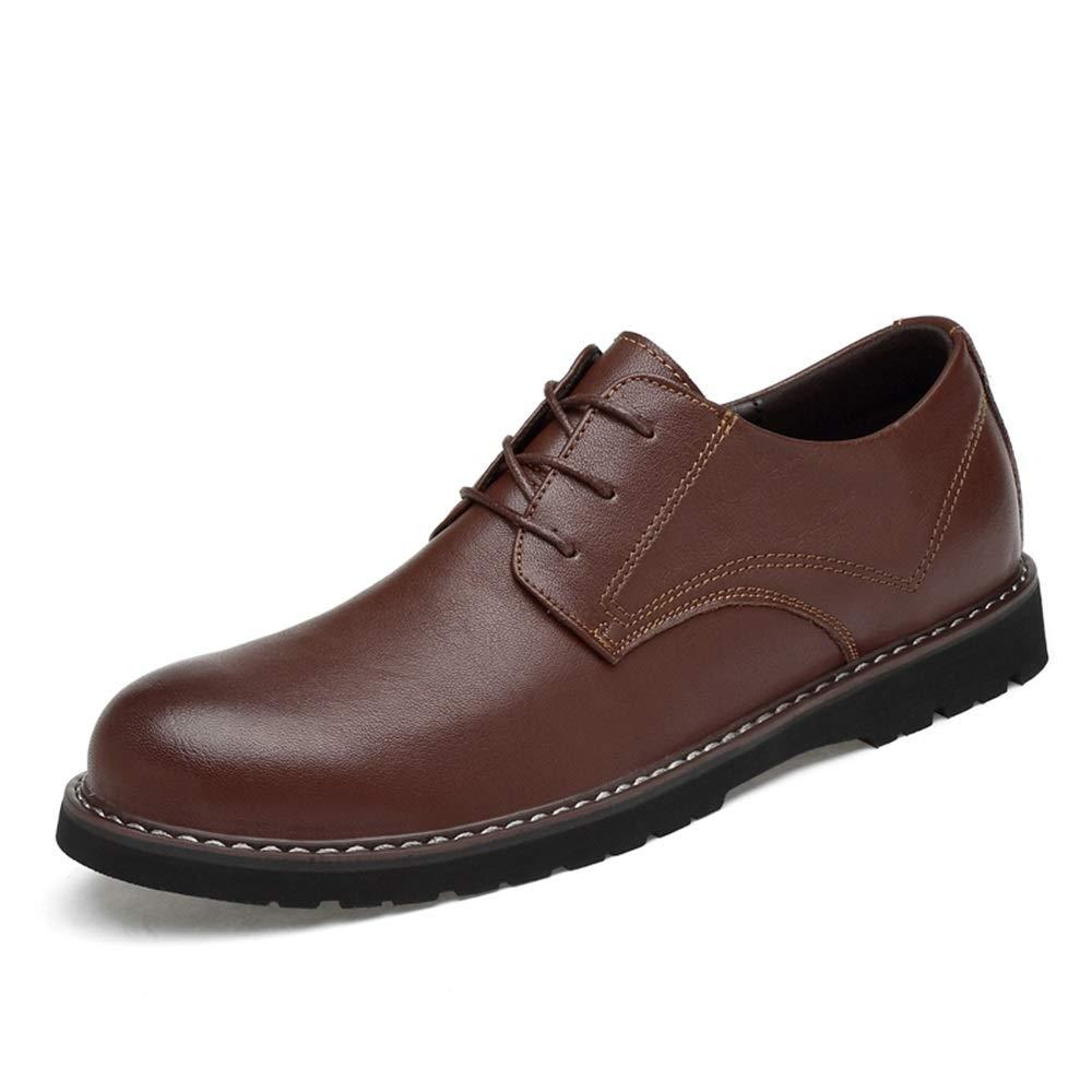 SHENNANJI Formelle Schuhe der Herrenmode Oxford beiläufige Bequeme runde Zehe Klassische Feste Farbe Schuhe