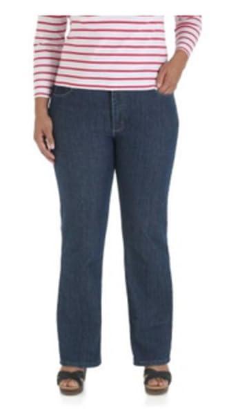 Amazon.com: Riders por Lee Mujeres Plus Azul Oscuro Jeans ...