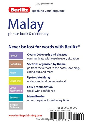 Berlitz Malay Phrase Book /& CD