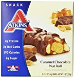 Atkins Advantage Caramel Chocolate Nut Roll, 5 Count 1.6 Ounce Bars by ATKINS