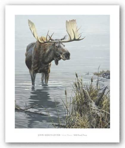 Silent Waters by John Seerey-Lester 29x24 Wildlife Poster MOOSE ART PRINT