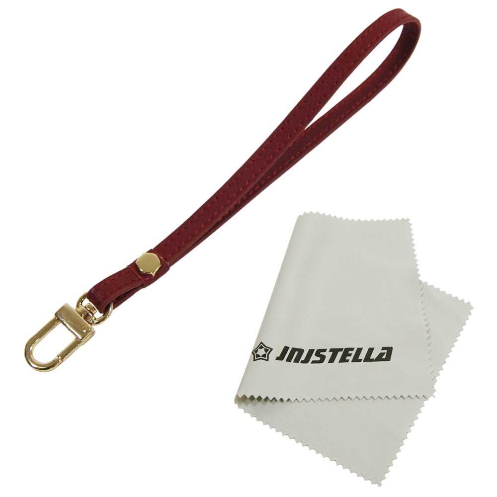 Genuine Leather Hand Wrist Strap Lanyard for Cell Phone Camera ipod mp3 mp4 USB Flash Drive ID Badge holder Key Burgundy