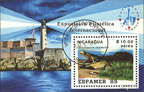 Nicaragua block164 (Complete.Issue.) 1985 ESPAMER `85 (Stamps for Collectors) Amphibians/Reptiles/Dinosaurs