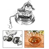Herbal Duck Shaped Tea Infuser Tea Strainer Ultra Fine Stainless Steel Strainer Filter Diffuser for Loose Leaf Grain Tea Cups Mugs and Pots