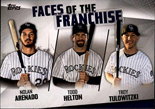 - 2019 Topps Faces of the Franchise Trios #FOF-10 Troy Tulowitzki/Todd Helton/Nolan Arenado Colorado Rockies MLB Baseball Trading Card