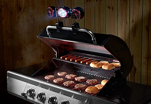 Light Led Cordless Grill (Sharper Image BBQ Grill Light and Fan)