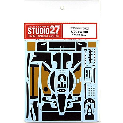 スタジオ27 1/20 FW13B カーボン デカール タミヤ対応 STUDIO27 CD20035