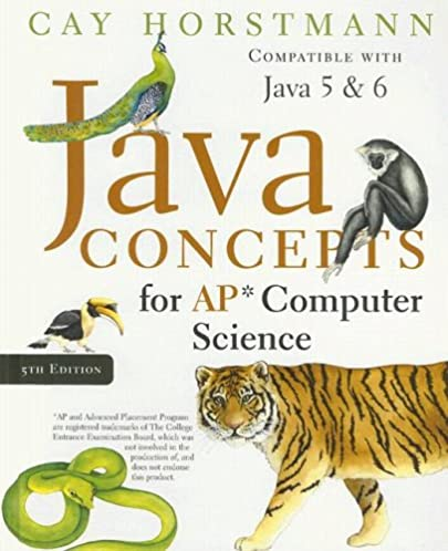 java concepts for ap computer science cay s horstmann rh amazon com Cay Horstmann Java Concepts Solutions Horstmann Wiley