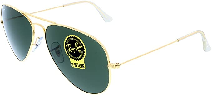 Ray Ban Men's RB3025 Aviator Metal Aviator Sunglasses