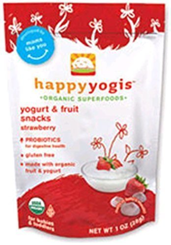 Organic Yogurt Melts Strawberry 1 Ounces (8 Count) by HAPPYBABY