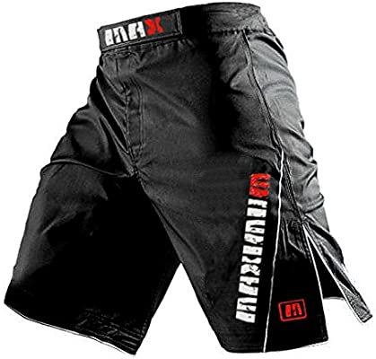 BOXING Kick Gear MuayThai  MMA UFC BLACK Shorts Grappling Cage Fighting Shorts R