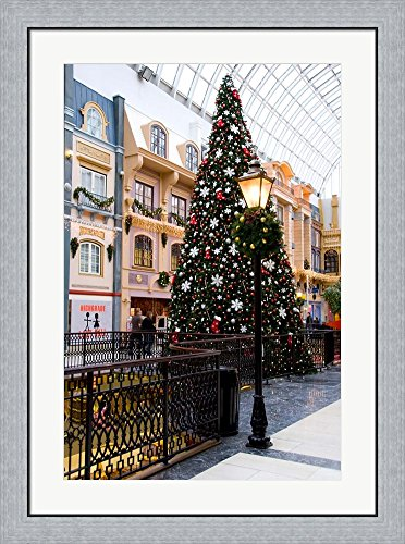 West Edmonton Mall, Alberta, Canada by Cindy Miller Hopkins / Danita Delimont Framed Art Print Wall Picture, Flat Silver Frame, 27 x 36 - Pictures Mall Edmonton