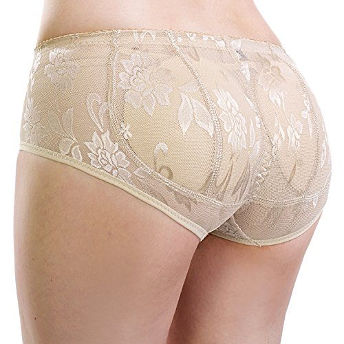 Cabreao Womens Pads Shapewear Panties Briefs Butt Lifter Panty Booty Enhancer Shaper (US M, Nude) (Men Looking For Plus Size Women)