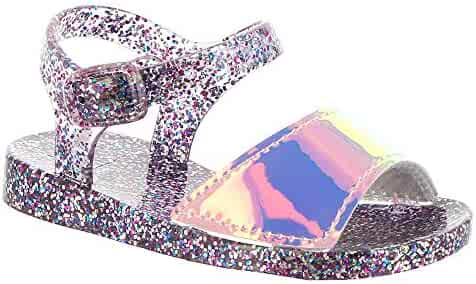 c0a2caa0f78 Baby Deer Multi Color Glitter Jelly Girls  Infant-Toddler Sandal 6 M US  Toddler