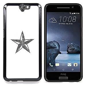 "For HTC One A9 Case , Estrella comunismo Rusia Blanca Navidad"" - Diseño Patrón Teléfono Caso Cubierta Case Bumper Duro Protección Case Cover Funda"