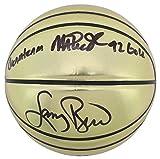 Magic Johnson & Larry Bird Dream Team 92 Gold Signed Molten Basketball BAS