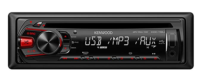 Kenwood KDC-118U In-Dash 1-DIN CD AUX/USB MP3 AM/FM Car Audio Receiver  Stereo