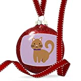 Christmas Decoration Cute Animals for Kids Brown Cat Ornament
