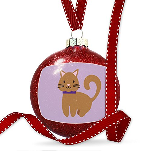 Christmas Decoration Cute Animals for Kids Brown Cat Ornament by NEONBLOND