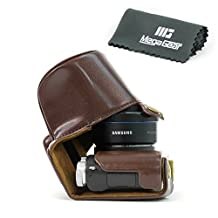"""MegaGear """"Ever Ready"""" Protective Leather Camera Case, Bag for Samsung NX3000 with 20-50mm Lens (Brown)"""
