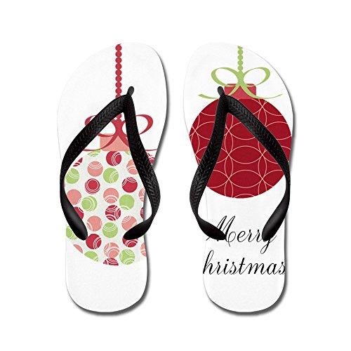 Simpatici Ornamenti Natalizi - Infradito, Sandali Infradito Divertenti, Sandali Da Spiaggia Neri