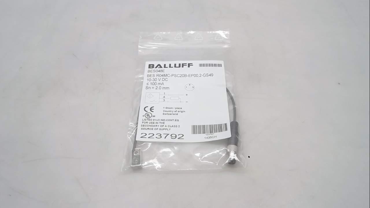 Balluff Bes048e, Proximity Sensor, 2 Mm Range, 10-30Vdc Bes048e