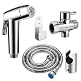 Hand Held Bidet Sprayer DDSKY Stainless Steel Diaper Sprayer Kit Dual Spray Modes Cloth Diaper Sprayer for Toilet Cloth Diaper Cleaning with T-valve Steel Hose Holder