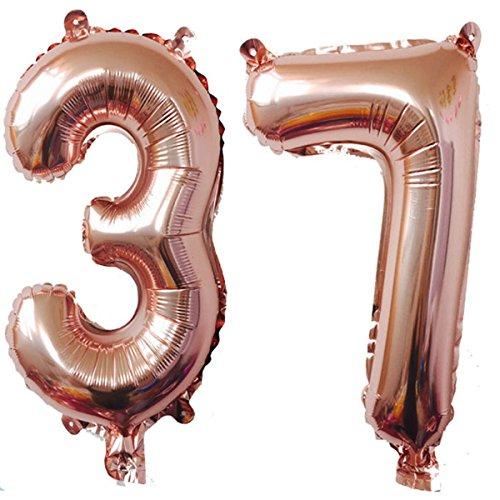 7 inch number balloons - 5