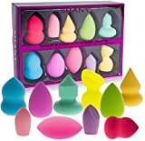 SHANY Makeup Premium Beauty Sponge Blender Puff Set - Latex-free & Vegan , Multipurpose Shapes & Colors - Set of 10