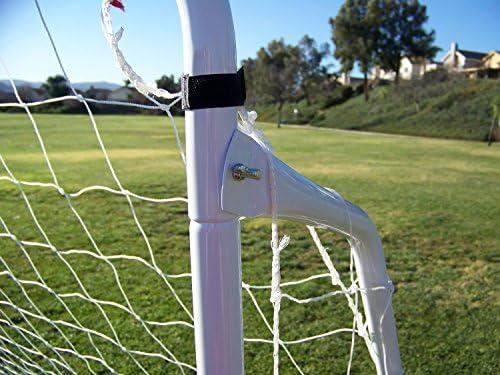 Display4top Soccer Goal 12 'x 6' W/Net Ancre de sangles, Ballon de football d'entraînement des Ensembles Cage de Foot 3,7 x 1,8 m