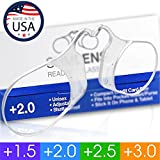 SLIMLENS Reading Glasses for Men and Women, USA Patented, Rimless with Case (2.0)